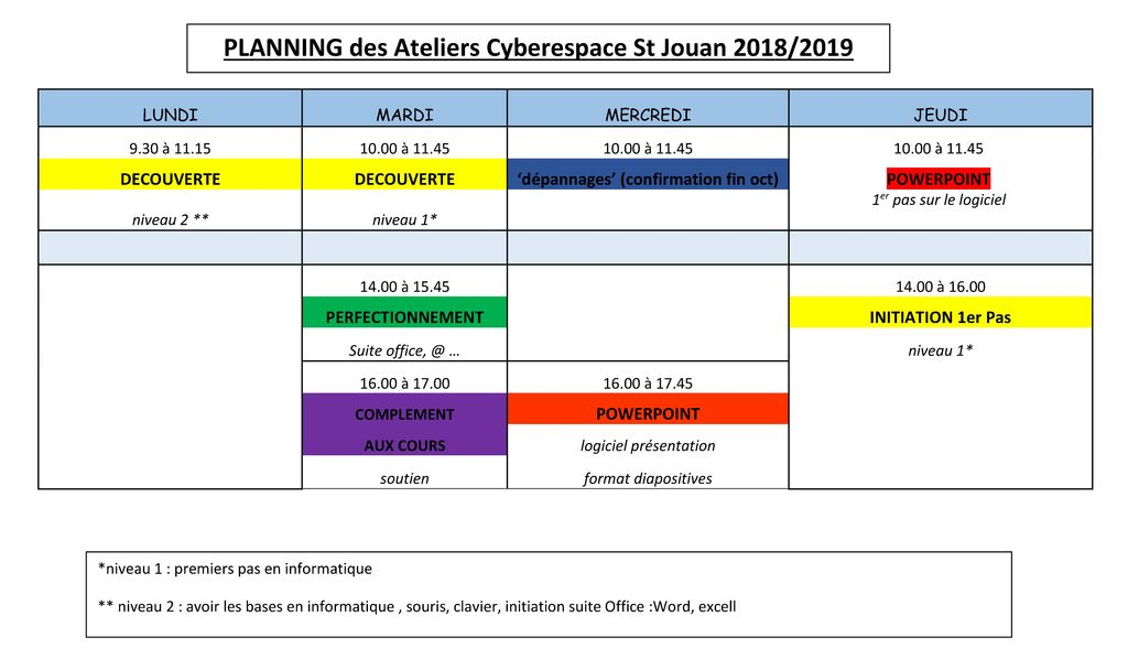 planning ateliers cyber 2019